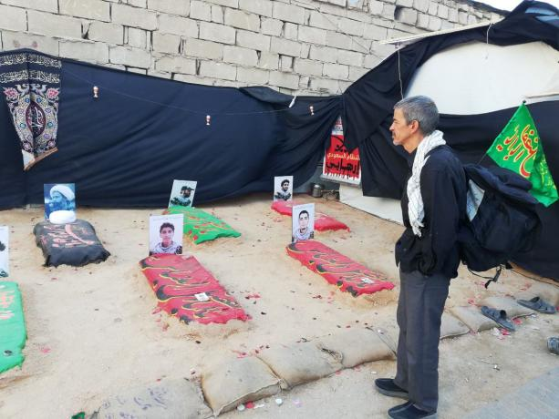 """Exhibition of """"Bahrain's Martyrs"""" Is Widely Covered by Media, As Crowds of People Heightened"""