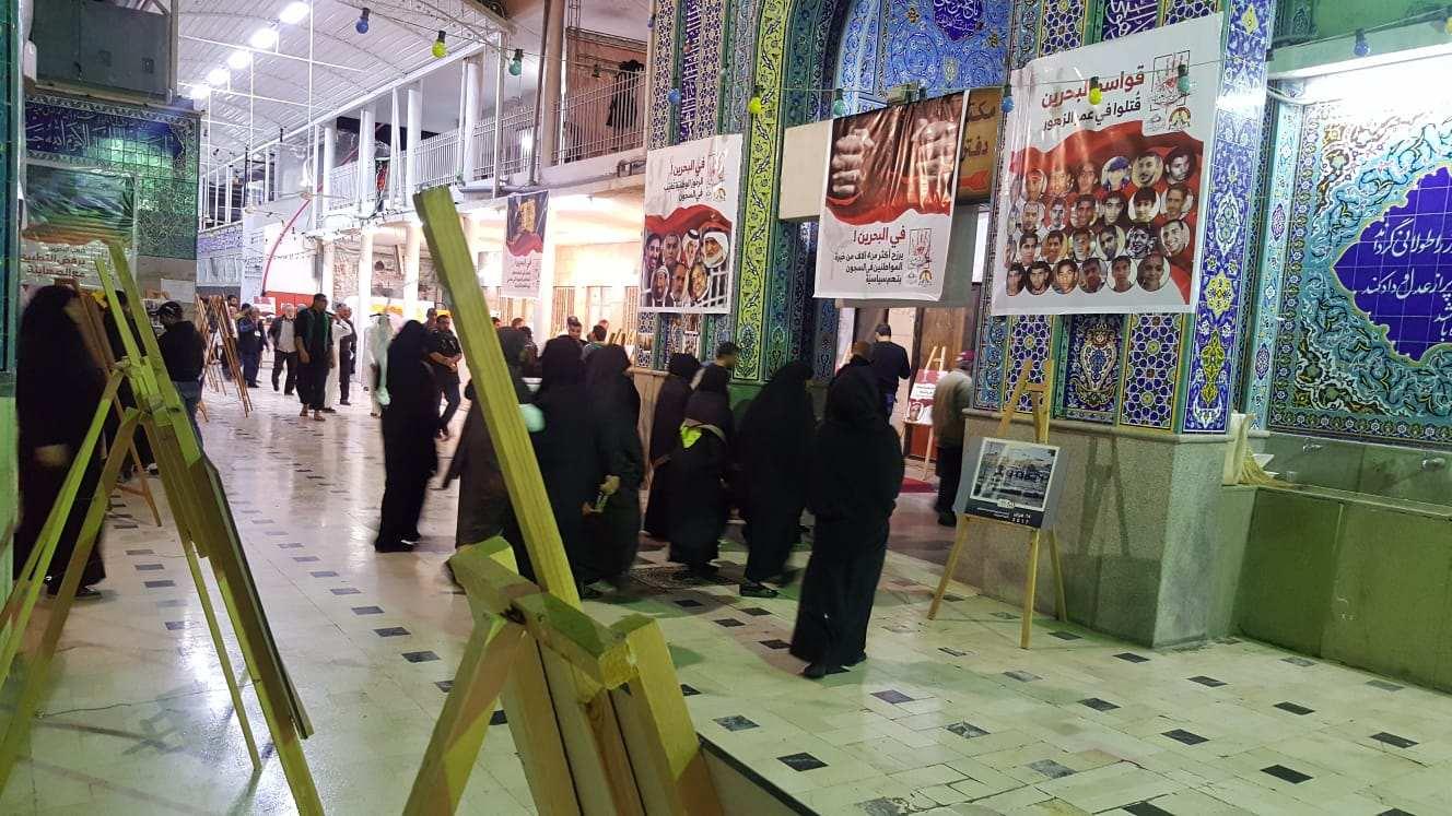 بالصور: معرض »مشاهد من ثورة البحرين« في يومه افتتاحه يستقبل مئات الزوّار