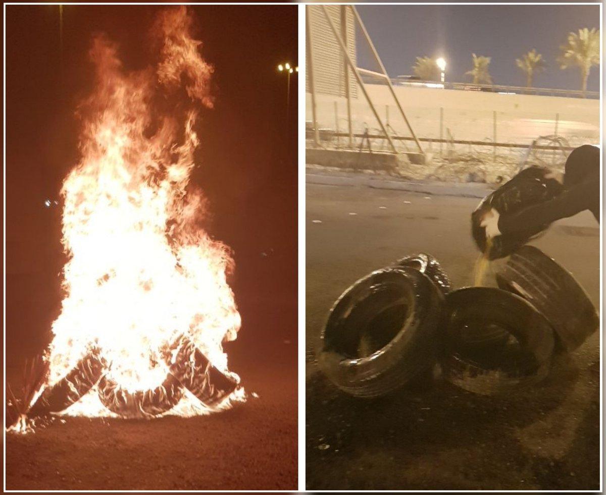 ثوّار البحرين ينفذون حراكاً ثوريًا في بلدة كرباباد