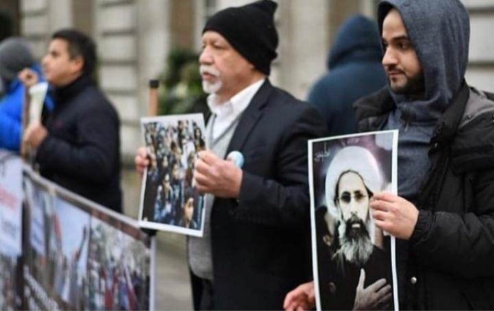 وقفات احتجاجيّة في لندن وبرلين في الذكرى الثالثة لاستشهاد آية الله المجاهد الشيخ النمر