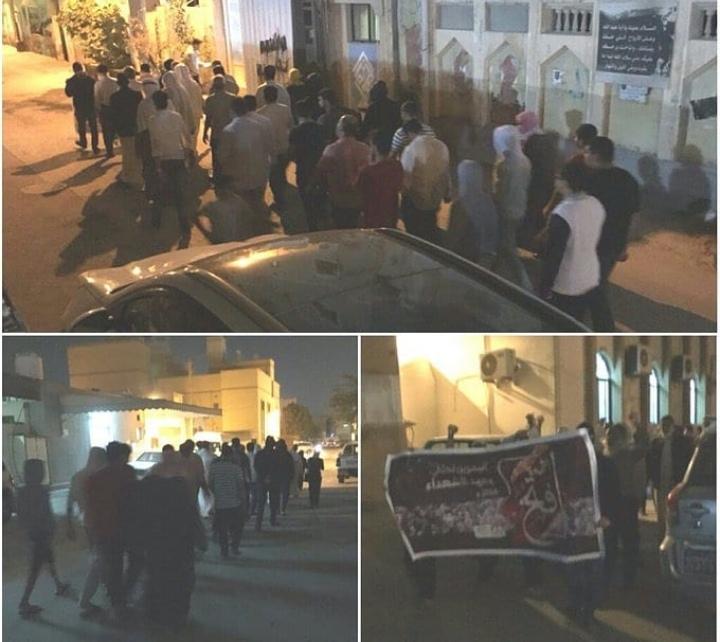 تظاهرة ثورية ببلدة المعامير وفاءً للشهيد الطفل «ياسين العصفور»