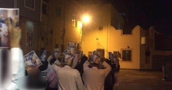 أهالي جدحفص يتظاهرون تنديدًا باعتقال السيّد مجيد المشعل مجدّدًا