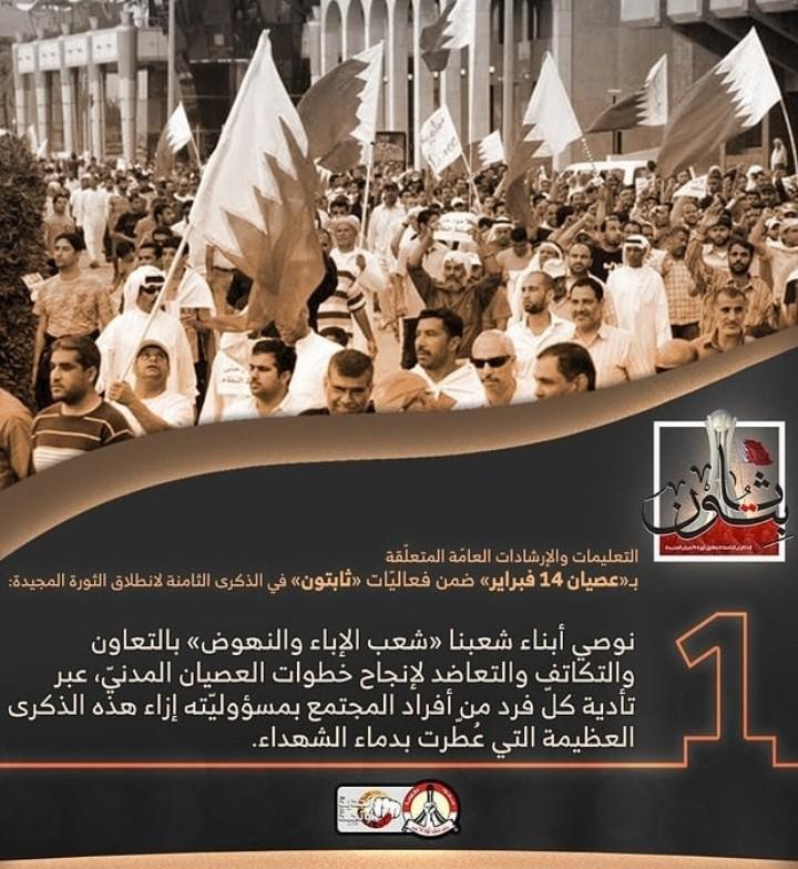 ائتلاف 14 فبراير يصدر مجموعة من التعليمات والإرشادات حول  «عصيان 14 فبراير»