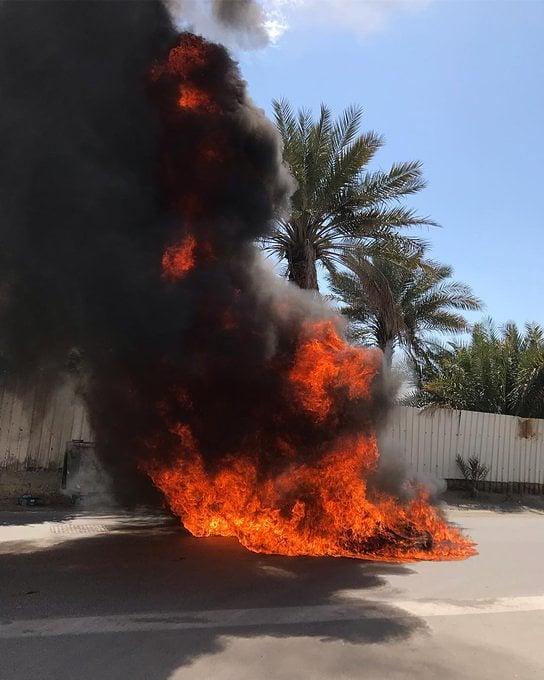 أعمدة الغضب ترتفع خلف مطار البحرين الدوليّ تأهّبًا لتنفيذ خطوات المقاومة المدنيّة