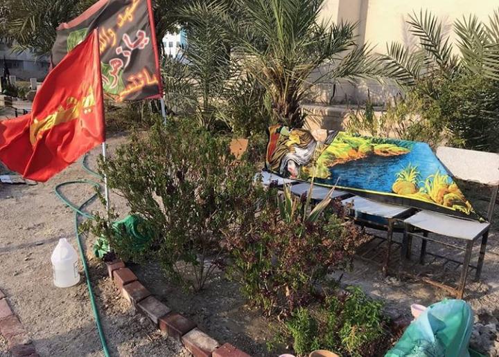 زيارة روضات الشهداء في عدّة مناطق وبرنامج إيمانيّ عند روضة الشهيد «علي الدمستاني»