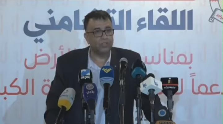 مسؤول الجبهة الشعبيّة لتحرير فلسطين في لبنان الأستاذ مروان عبد العال: من هو مع فلسطين لا يمكن أن يكون مع التطبيع