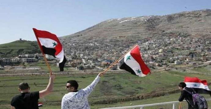 February 14 Coalition: Golan is a dear part of our Arab homeland and will not be in any way affiliated with the Zionist entity -the usurper & Syria will remain steadfast despite conspiracies