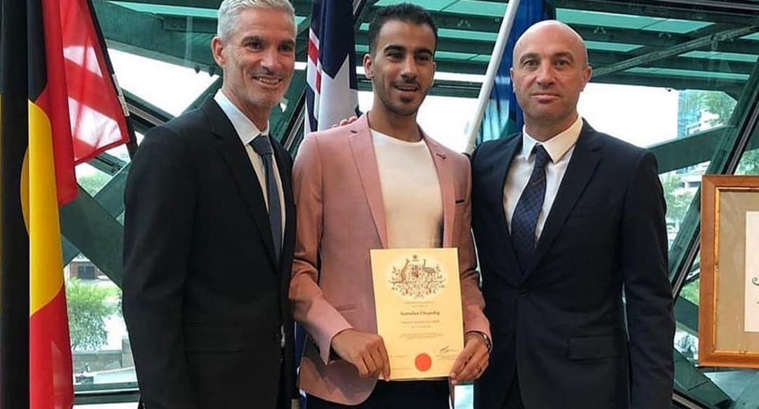 اللاعب «حكيم العريبي» يحصل على الجنسيّة الأستراليّة