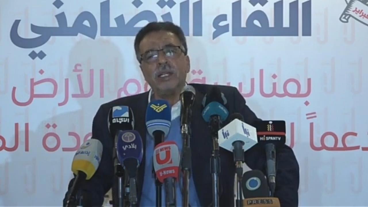 أمين سرّ تحالف القوى الفلسطينيّة أبو هاني رميّض: متى سقط الكيان الصهيونيّ سقطت معه الأنظمة الداعمة له
