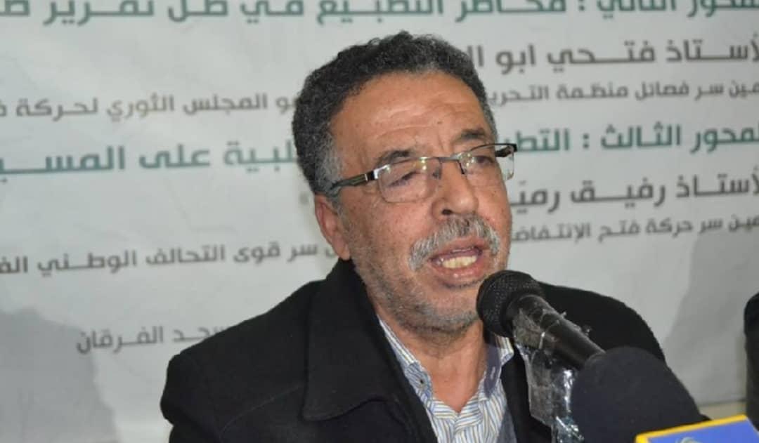 عضو اللجنة المركزيّة لحركة فتح الانتفاضة أمين سر إقليم لبنان «أبو هاني رميّض»: سيسجّل التاريخ كلّ المواقف الأبيّة مع قضيّة فلسطين