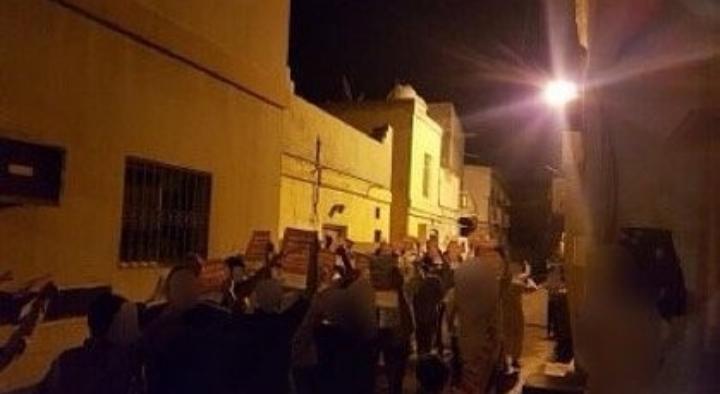 تظاهرات غاضبة تشهدها بلدات البحرين رفضًا للتطبيع مع الصهاينة
