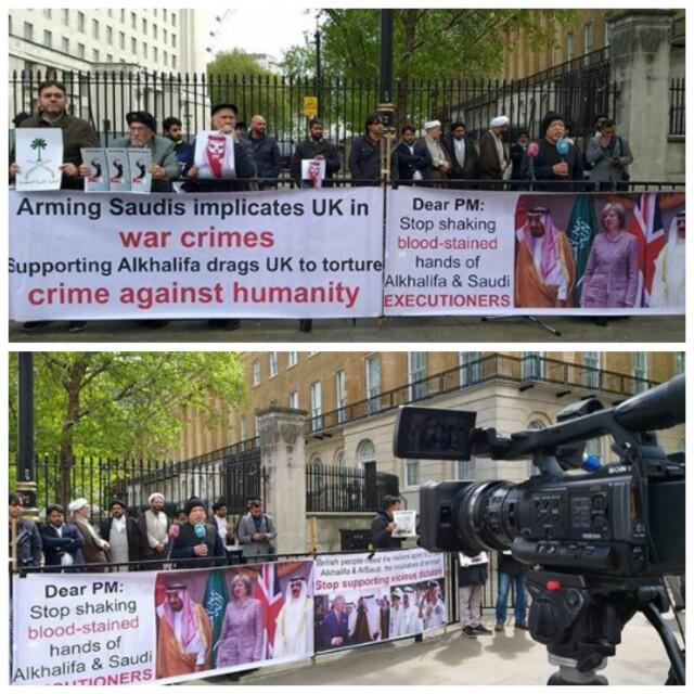 نشطاء ينظّمون وقفة غاضبة في لندن تنديدًا بجرائم النظام السعودي