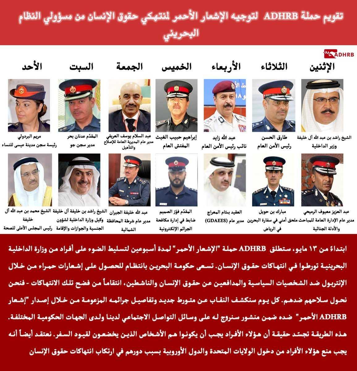 منظّمة أمريكيّون تستكمل إصدار «إشعارها الأحمر» بحقّ المتورطين في انتهاكات حقوق الإنسان في البحرين